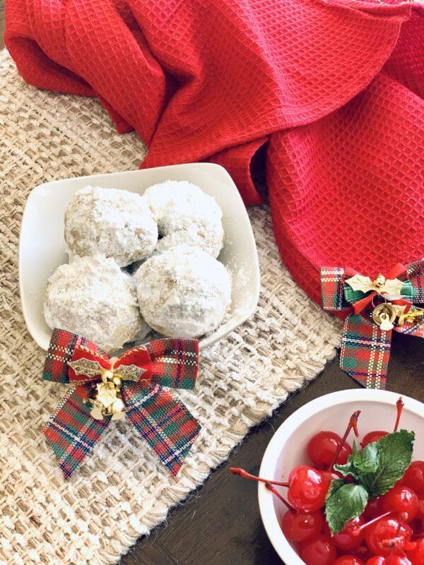 Gina Ferwerda's Cherry Pistachio Snowball Cookies