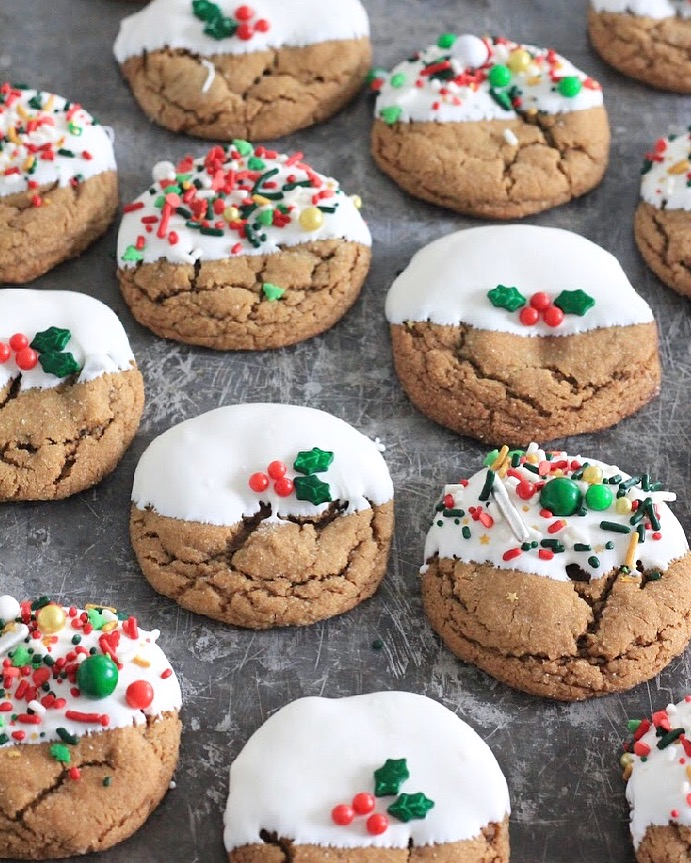 Mandy  Merriman's White Chocolate Dipped Ginger Cookies